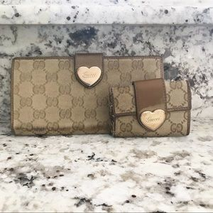 Gucci Long Wallet and Keyholder Set Authentic
